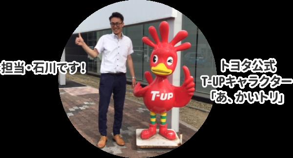 担当・石川です! トヨタ公式T-UPキャラクター「あ、かいトリ」